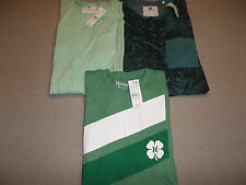 NEW LOT 3 SHIRTS T-SHIRT HURLEY ON THE BYAS GREEN ST PATRICKS MEN M *FREE SHIP