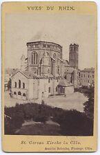 St Gereon Cöln Allemagne CDV Vintage albumine ca 1875