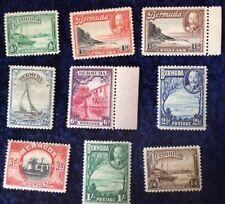 Bermuda George V Definitives SG 98/106 Mtd. Mint - Catalogue Value £30 In 2016.