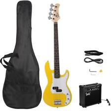 New Basswood Right Handed Electric Guitar Bass with 20W Amp Yellow