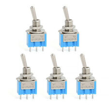 5Pcs AC 3A/250V 6A/125V ON/OFF SPDT Mini 2 Position Latching Toggle Switches