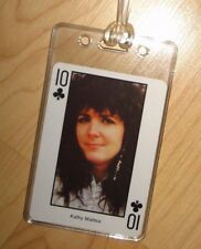 Kathy Mattea Luggage Tag - Vintage 1980's Country Music Western Playing Card Tag