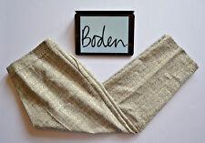 BODEN NEW Textured White black Gold Richmond Style Pants Cropped Sz 22L W42 L27