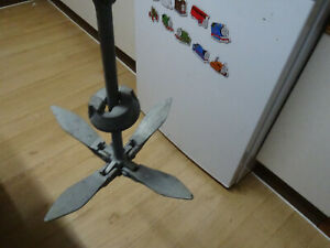 Folding grapnel anchor - galvanised, weighs 1.4kg suitable for small boat/kayak