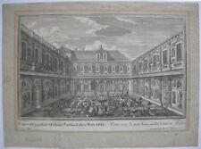 Gartenarchitektur Steingarten Orig Kupferstich Corvinus nach Disel 1717
