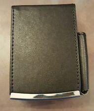 Eclipse Black King Cigarette Lift Case Pocket For Lighter Leather Wrapped