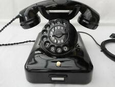 ALTES BAKELIT TELEFON +  W48  + 60 Jahre alt  + 1961 + Wählscheibe + restauriert