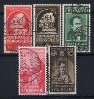 Italien 1937 Sass. 426-429, 431 Gestempelt 100% Distinguished Men