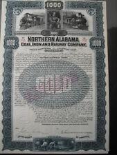 Northern Alabama Coal Iron and Railway Company  1900