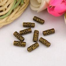 40Pcs Tibetan Silver,Gold,Bronze Spacer Tube Beads Jewelry Making DIY M1145