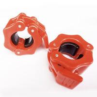 2er-Set Hantelverschlüsse Hantelstangen Verschluss Barbell Halsbänder 25mm