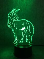 3D Acrylic LED Visual Night Light Desk Table Lamp Novelty Gift Bedroom Illusion