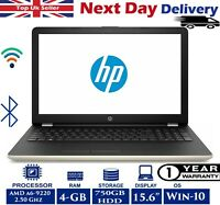 HP 15-bw066sa 15.6-In Laptop AMD A6 Quad-Core 2.5Ghz 4GB RAM 750GB HDD Window 10