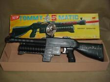 VINTAGE 60'S BATTERY OPERATED TOMMY 5 MATIC TOY MACHINE GUN DAISHIN JAPAN WORKS!