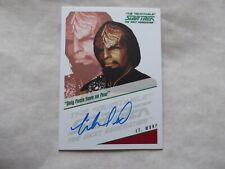 Quotable Star Trek TNG Autograph Card -Michael Dorn  as  Lt. Worf