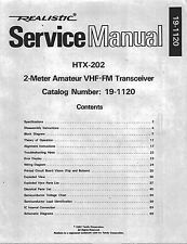 Realistic HTX-202 Service and Owners Manual * CDROM * PDF