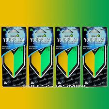 4 PACK Wakaba Japan Treefrog Young Leaf Black Squash Scent JDM Air Freshener