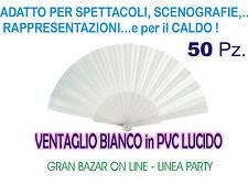 SPOSI VENTAGLIO BIANCO PVC LUCIDO 50 Pz STOCK GADGETS PARTY FESTA DANZA
