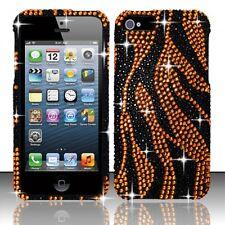 For Apple iPhone 5 5S SE Crystal Diamond BLING Hard Case Phone Cover Gold  Zebra