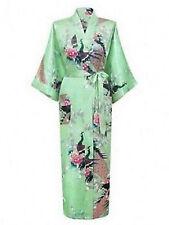 2017 Promotional Bride Long Women Kimono Robe satin silk Night dressing Gown