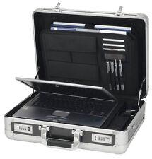 ALUMAXX Aktenkoffer C-1 Aluminium schwarz Akten Koffer Tasche
