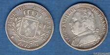 5 Francs Louis XVIII Buste Habillé 1815 Q Perpignan TB +
