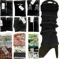 Women Leg Warmers Kids Girls Crochet Knit Ribbed Knee High Winter Boot Wool Sock