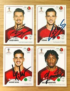 Panini World Cup 2018 - 13 Different Autograph/Signed Portugal Stickers