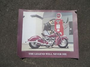 "Legends Never Die Vintage Indian Chief Garage Shop Man Cave Poster 22"" x 27"""