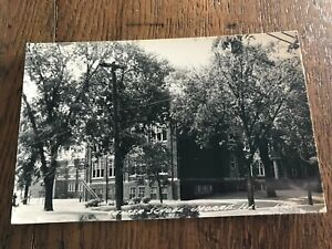 Center School Morris Illinois IL RPPC Postcard