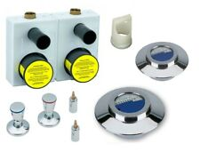 Montageblock UP SET Wasser-Zähler WG-TEC 3000 DOUBLE m. Kompaktzähler u. Ventile
