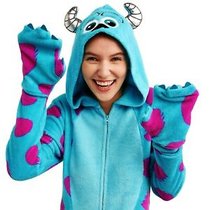 Sulley Monsters Inc Union Suit Size Large Womens Costume One Piece Pajamas Mens