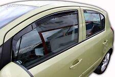 DOP25363 VAUXHALL CORSA D 5 PORTE 2006-2014 deflettori del vento 4pc Set colorata HEKO