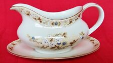 Royal Doulton Gravy / Sauce Boat & Stand Mandalay Made in England