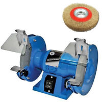 "150mm ELECTRIC BENCH GRINDER 230V 150W INCLUDES 6"" POLISHING WIRE WHEEL BRUSH"