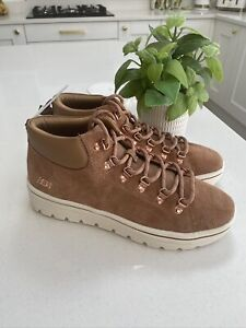Skechers Street Cleats 2 Haute Hikes Suede Mid Top Trainer Boot Chestnut 6.5 New
