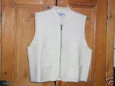 NWOT Corbin Threads Boiled Wool Ivory Sweater Vest-M