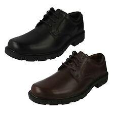 Hombre Clarks De Cuero Cordón Arriba Zapato negro y marrón estilo - LAIR Watch