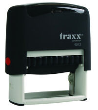 Traxx 9012 (Ideal 80 size) Custom 4 Line Return Address Self Inking Rubber Stamp