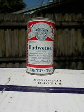 BUDWEISER TAB TOP ST LOUIS 5 CITY LINES EVEN VIRGINIA STAMP OLD BEER CAN
