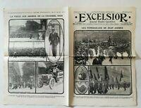 N945 La Une Du Journal Excelsior 5 Août 1914 Funérailles Jean jaures
