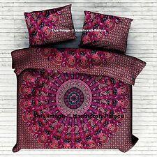 Etnica Paisley Mandala Copripiumino Matrimoniale Consolatore Indiano Cotone Art