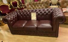 Chesterfield 3 Sitz Sofa Echt Leder A100