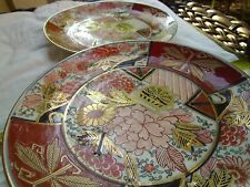 Antique  Signed Gold Jmari Hand Painted Plates Lot of 2
