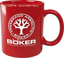 BOKER KNIFE - BOKER TREE BRAND COFFEE MUG - BOKER LOGO - CERAMIC CONSTRUCTION