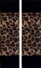 SEAT BELT COVERS SHOULDER CUSHION PADS CHEETAH and BLACK
