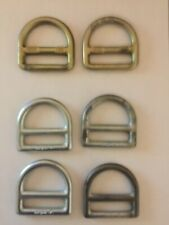 Rigging, Climbing, and Caving Small D-Rings for Ropes, Straps, Snap hooks, 22kn