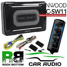 Kenwood KSC-SW11 150 W Activo Amplificado UNDERSEAT coche Subwoofer Sub & Cableado