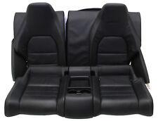 Mercedes W207 E Coupe Rücksitzbank Leder Schwarz Sitze Hinten Sitzpolster