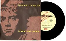"ROGER TAYLOR - MAN ON FIRE / KILLING TIME - PROMO 7""45 VINYL RECORD PIC SLV 1984"